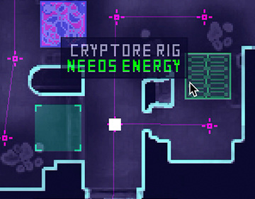 You might find some cryptocurrency mining rigs - shoot energy from your arrays with right-click!